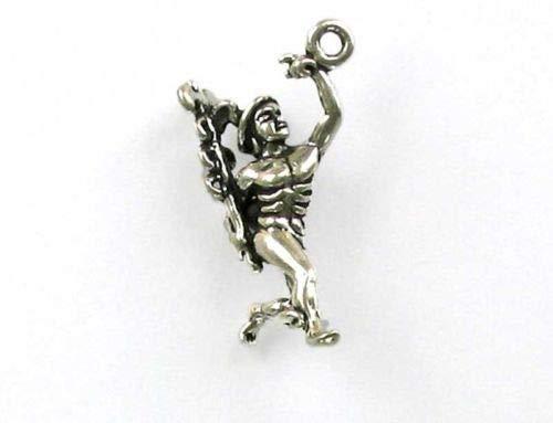 Sterling Silver 3-D Hermes Charm - Jewelry Accessories Key Chain Bracelet Necklace Pendants