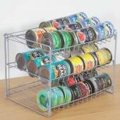 3 Tier Can Shelf Kitchen Canned Food Holder Organizer Storage Rack Pantry