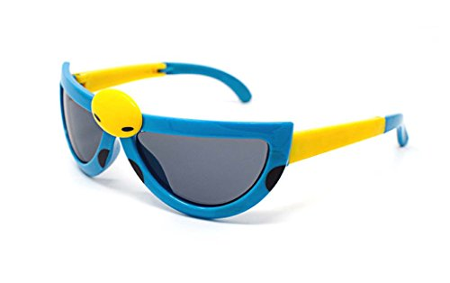 Ultra 3 x Blue Coloured Pairs Childrens Kids Boys Girls Stylish Transforming Cute Ladybird Style - Bans To Ray Where Buy