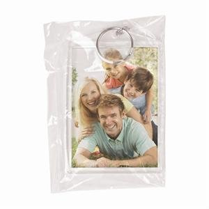 2-1/2'' x 3-1/2'' Clear Snap-In Photo Keychains in Polybag - Pack of 144 by Snapins