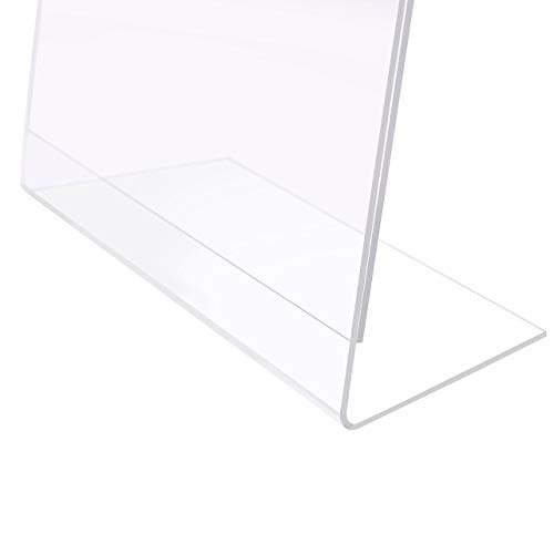 MaxGear Sign Holder 8.5'' X 11'' Slant Back Design Acrylic Sign Holders Clear Frames Table Top Sign Holder Plastic Display Stand - Pack of 6 by MaxGear (Image #4)