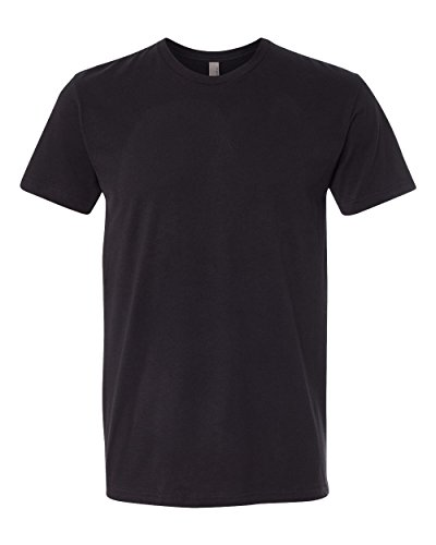 Apparel (Next Level Apparel 6410 Mens Premium Fitted Sueded Crew Tee - Black44;)