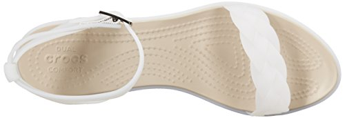 crocs Womens Isabella Block Heel W Wedge Sandal Oyster