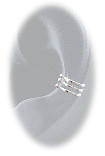 Earcuff 9 Triple SS Sterling Silver - Solid Sterling Silver Slip