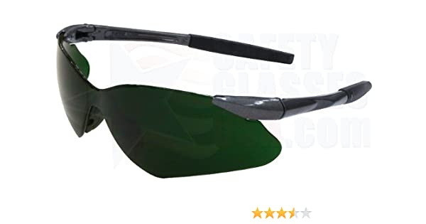 e26c8429708 Jackson 3013544 KC20473 Nemesis VL Safety Glasses Gun Metal Frame I.R 5.0  Green Lens