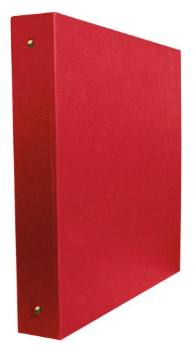 Aurora GB Elements Binder, 2 Inch Round Ring, 8 1/2 x 11 Inch Size, Red, Linen Embossed, Eco-Friendly, Recyclable, Made in USA (AUA20326)
