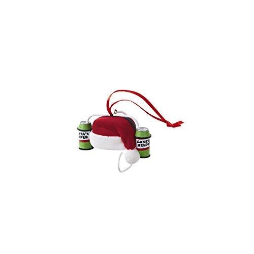 Hallmark Direct Imports 2015 Santa's Helper Beer Hat Ornament