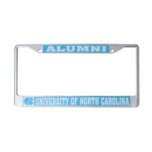 (Desert Cactus University of North Carolina Alumni Metal License Plate Frame for Front Back of Car Officially Licensed UNC Tar Heels (Alumni))