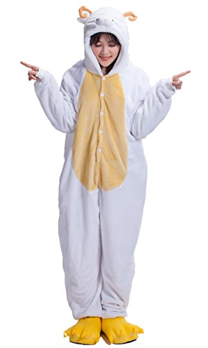 (Adult Kigurumi Anime Cosplay Outfit Pajamas Romper Sheep)