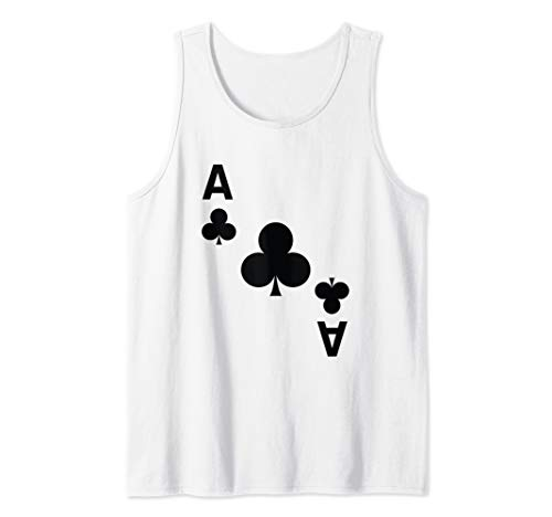 Ace of Clubs Poker Playing Card halloween Costume  Tank Top -