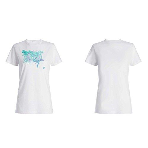 Los nuevos hombres corrientes puntean la novedad de los colores del arte camiseta de las mujeres m60f