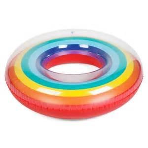 SunnyLIFE Inflatable Pool Float Inner Tube Floating Ring- Rainbow by SunnyLIFE