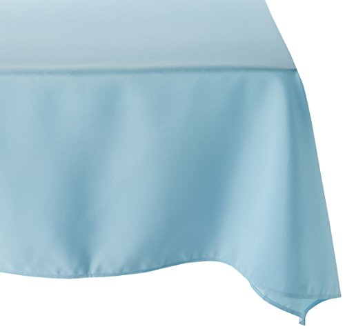 LinenTablecloth 54-Inch Square Polyester Tablecloth Baby Blue
