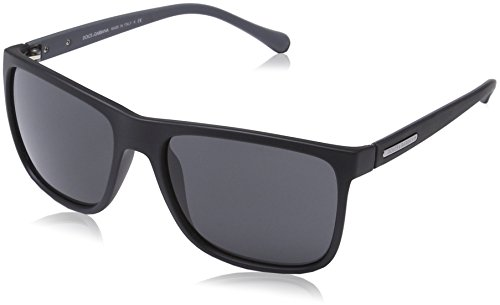Dolce & Gabbana Men's DG6086 Black Rubber/Grey