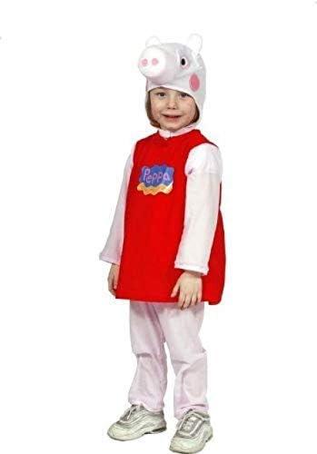 comogiochi - Disfraz de Peppa Pig Original de 3 a 4 años para niño ...