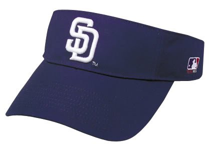 San Diego Padres Officially Licensed MLB Adjustable Velcro Adult Visor
