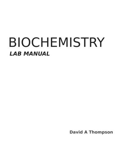 Download Biochemistry Lab Manual ebook