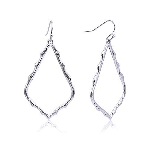 Lightweight Dangle Earrings Simple Earrings Silver Teardrop Earrings for Women ()