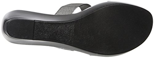 Athena Alexander Women's Finola Wedge Sandal Pewter Elastic HDshydGRkC