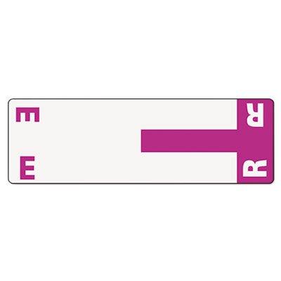 (SMD67156 - Smead 67156 Purple AlphaZ NCC Color-Coded Name Label - E R)