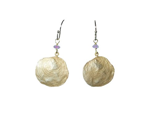 Petite La Mer Drop Earrings with Amethyst By Michael Michaud