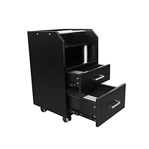 Glass Glow Pedicure Trolley BLACK Cart for Nail Salon Furniture & Equipment by DERMALOGIC