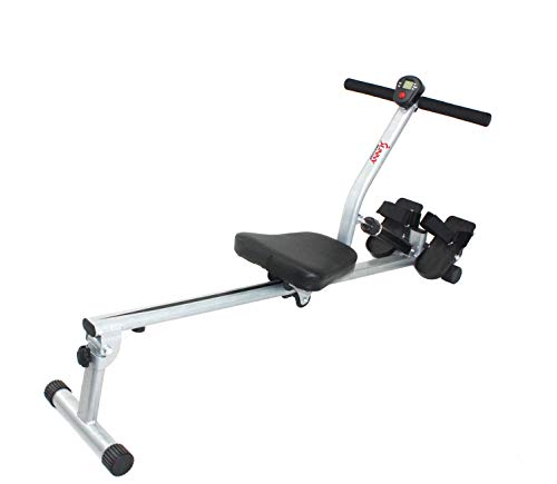 Sunny Health & Fitness SF-RW1205 Rowing Machine Rower w/ 12 Level Adjustable Resistance, Digital Monitor and 220 LB Max Weight