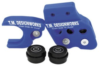 Aftermarket Arm Chain Slide - TM Designworks Slide-N-Glide Kit AM Black for Honda CRF YFZ450 04-10