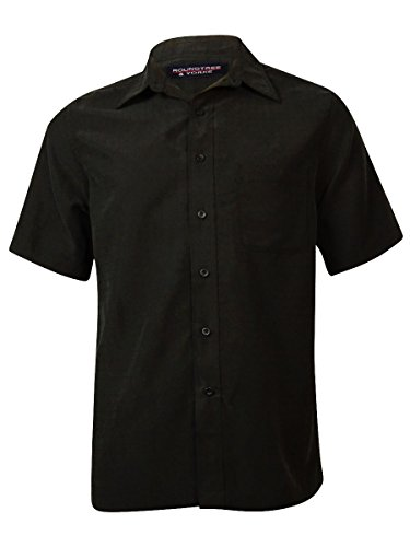 Roundtree & Yorke Men's Tonal Window-Pane Buttoned Shirt (M, (Roundtree & Yorke Windowpane)