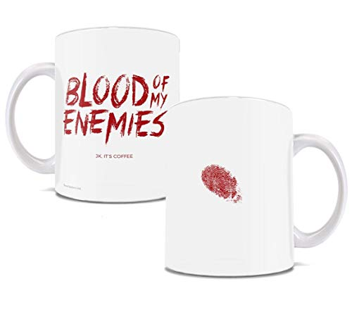 Halloween - Blood of my Enemies Bloody Thumbprint - Funny Coffee or Tea Mug - Perfect for gifting]()