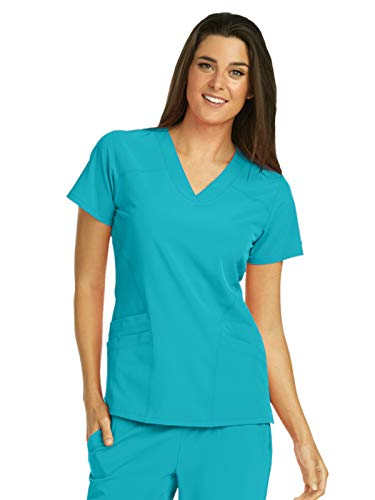 Barco One 5106 Women's V-Neck Top Teal L