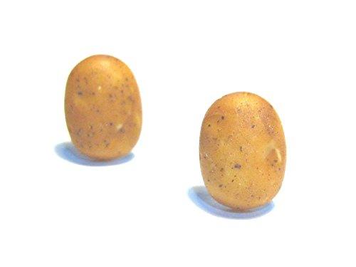 Russet Potato Stud Earrings - Tiny Food Jewelry
