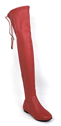 Nature Breeze Vickie-42TH Women's Stretchy Thigh High Flat Heel Boot (11 M US, ()