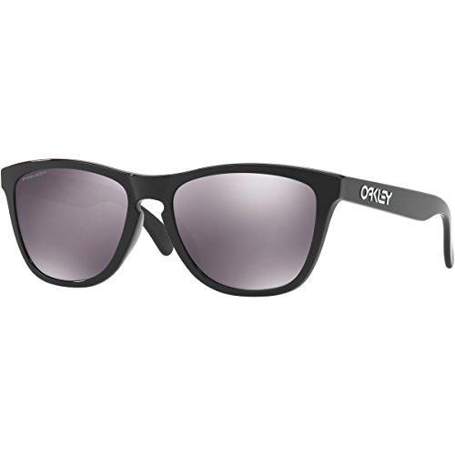 Oakley Men's Frogskins (a) Non-Polarized Iridium Rectangular Sunglasses, Matte Black, 54.02 - Polarized Oakley Frogskins