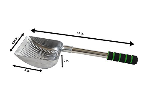 Brask-Pet-Supply-Jumbo-Cat-Litter-Scoop-2-in-1-SifterScoop-16-Long-All-Aluminum-with-Soft-Grip