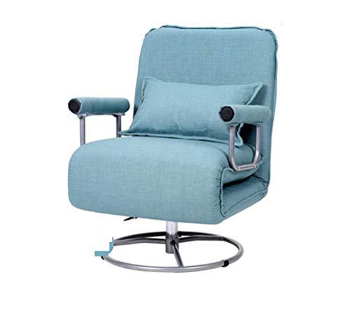 Folding Sofa Bed Sleeper Lazy Sofa Chair Adjustable Chair Recliner 360°  Swivel Lounger Sofa Seat 9e09204a0db