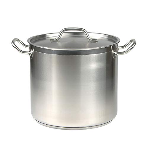 40 Qt Stainless Steel Stock Pot w/Cover