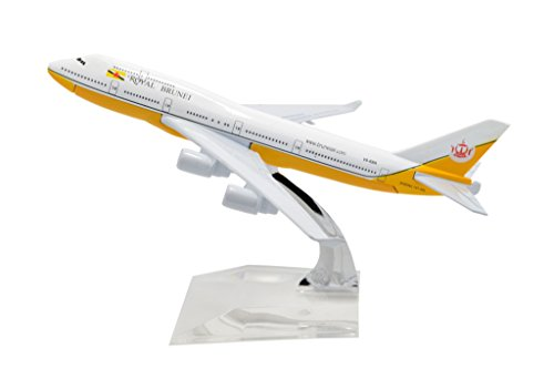 TANG DYNASTY(TM) 1:400 16cm Boeing B747 Royal Brunei Airlines Metal Airplane Model Plane Toy Plane Model