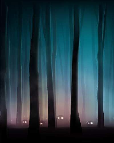 Halloween Backdrop Scary Night Forest Bare Trees Pumpkin Skeleton Eyes Outdoor Tree Thrilling Scared eek Scene Fall Party Dark Woods Printed Fabric Photography Background (G0225, 8' Wide by 10' Tall)]()
