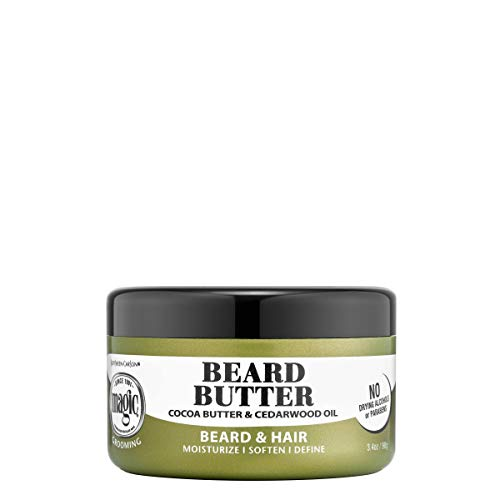 Softsheen-Carson Magic Men's Grooming Conditioning Beard Butter with Cocoa Butter and Cedarwood Oil, Moisturizes…