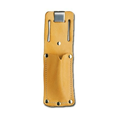 Pacific Handy PCUKH326 Cutters PCUKH326 Tan Leather Sheath Holster with Clip (Sheath Utility Leather Knife)