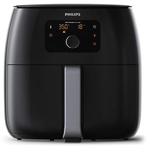 Philips Twin TurboStar Technology XXL Airfryer with Fat Reducer, Digital Interface 3lb/4qt- HD9650/96
