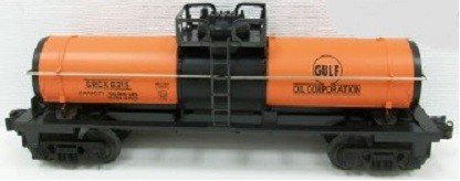 LIONEL TRAINS GULF OIL SINGLE DOME TANK CAR 19611 ()