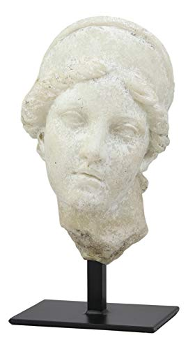 Ebros Large Ancient Classical Greek Roman Goddess Aphrodite Head Bust Antique Artifact Reproduction Replica with Museum Gallery Stand Statue Classic Home Decorative Figurine Heads