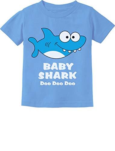 (Baby Shark Song Doo doo doo Family Dance for Boy Girl Infant Kids T-Shirt 6M California Blue)
