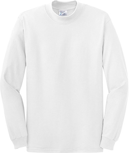 Port & Company Men's Mock Turtleneck - X-Large - White