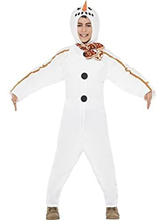 63f425531b Kids Boys Girls Winter Frosty Snowman All in One Christmas Festive Fancy  Dress Costume Outfit (