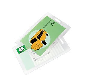 Laminating Pouches - 10 Mil Luggage Tag w/Slot (2-1/2