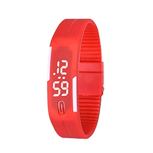 Digital Jelly 5 Sport (Sports Bracelet Watch, Windoson Unisex Silicone LED Digital Watch Creative Sports Watch Silicone Rubber Gel Jelly Watch Bracelet Men Women Watch)