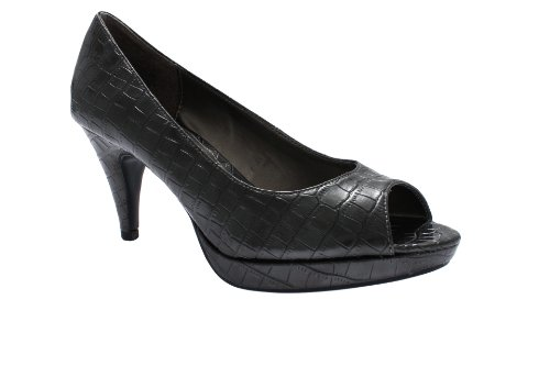 Bandolino Mylah Womens High Heel Peep Toe Pumps Shoes Pewter Sy 8.5